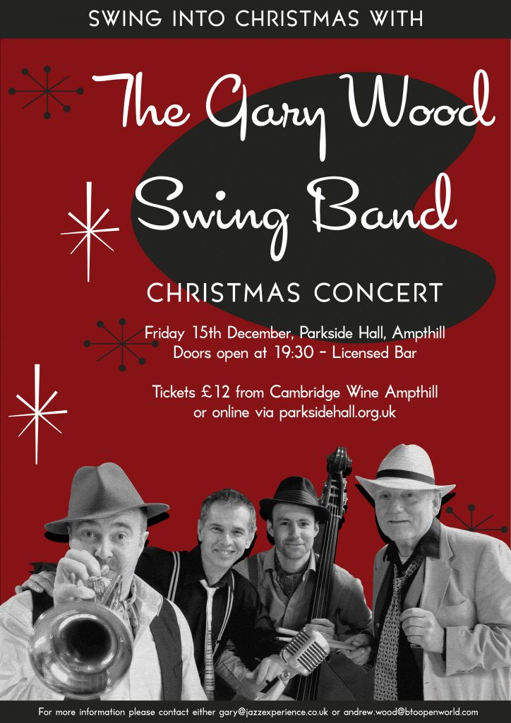 The Gary Wood Swing Band Christmas Concert @ Parkside Community Hall   United Kingdom