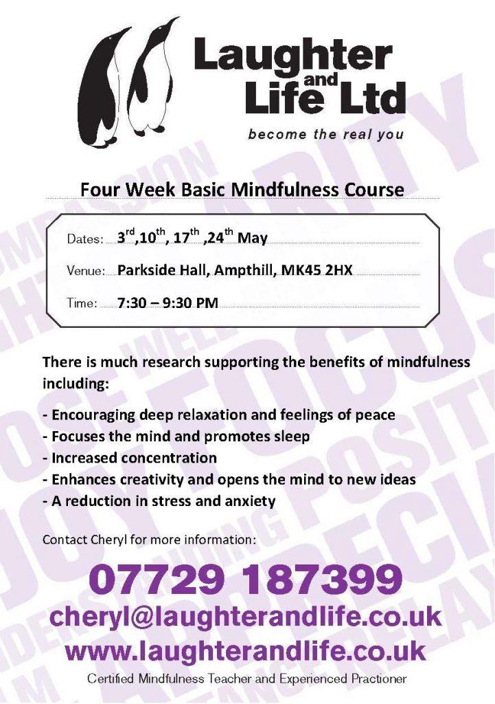 Laughter and Life Ltd - 4 Week Basic Mindfulness Course @ Parkside Community Hall   United Kingdom