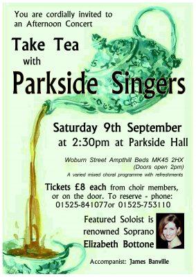 Parkside Singers Concert @ Parkside Community Hall | Ampthill | United Kingdom