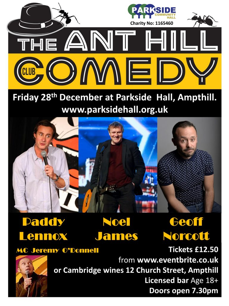 The ANT HILL Comedy Club - Christmas Special @ Parkside Community Hall | Ampthill | England | United Kingdom