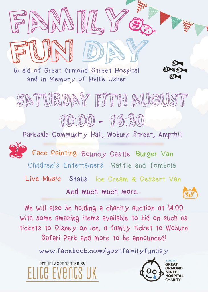Family Fun Day - in aid of Great Ormond Street Hospital @ Parkside Community Hall | Ampthill | England | United Kingdom