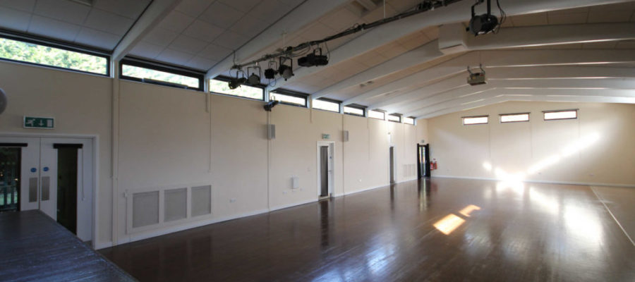 Spacious main hall looking from the stage
