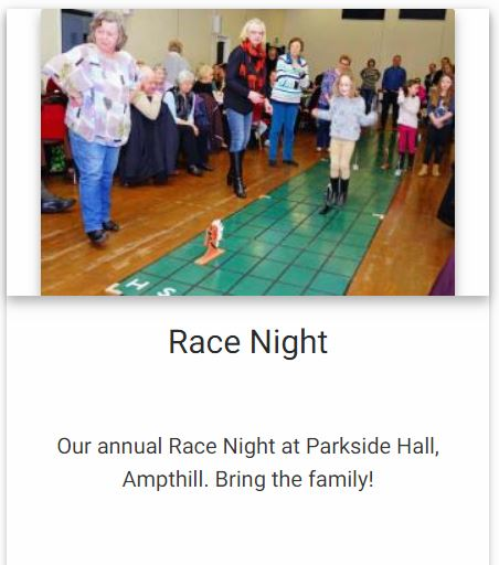 Rotary Race Night @ Parkside Community Hall | Ampthill | England | United Kingdom