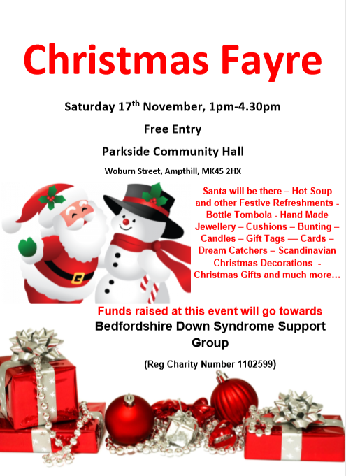 Christmas Fayre - Bedfordshire Down Syndrome Support Group @ Parkside Community Hall | United Kingdom