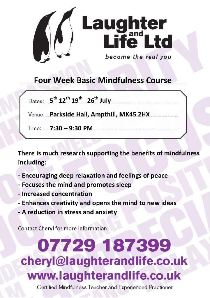 Laughter and Life Ltd - 4 Week Basic Mindfulness Course @ Parkside Community Hall | United Kingdom